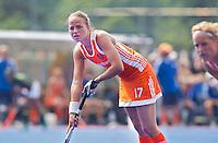 ARNHEM - Maartje Paumen tijdens de strafcorner , donderdag tijdens de oefenwedstrijd tussen de vrouwen van Nederland en Zuid Afrika. COPYRIGHT KOEN SUYK