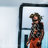 Nacho Flores in a scene from the show AAART!, the 18th Circ d´Hivern production at l'Ateneu, Barcelona.