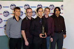 Nominations for the Mercury Prize in London, Great Britain 19th July 2005 with <br /> Seth Lakeman<br /> Jools Holland - host<br /> Lauren Laverne - host<br /> Kaiser Chiefs Ricky Wilson<br /> Maximo Park<br /> The Magic Numbers<br /> Polar Bear<br /> <br /> Photograph by Elliott Franks