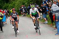 Igor Anton (ESP - Dimension Data) - Valerio Conti (ITA - UAE Team Emirates) during the 101th Tour of Italy, Giro d'Italia 2018, stage 14, San Vito Al Tagliamento - Monte Zoncolan 181 km on May 19, 2018 in Italy - Photo Luca Bettini / BettiniPhoto / ProSportsImages / DPPI