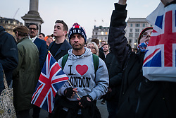 © Licensed to London News Pictures. 23/03/2017. London, UK. Thousands attend a vigil in Trafalgar Square for the victims of the Westminster terrorist attack, which took place on 22 March 2017. Photo credit: Rob Pinney/LNP