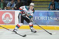 KELOWNA, CANADA, FEBRUARY 15: Carter Rigby #11 of the Kelowna Rockets looks for the pass against the Edmonton OIl Kings at the Kelowna Rockets on February 15, 2012 at Prospera Place in Kelowna, British Columbia, Canada (Photo by Marissa Baecker/Shoot the Breeze) *** Local Caption ***