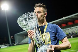 Gregor Bajde #20 of NK Maribor celebrates with a trophy after winning during football match between NK Celje and NK Maribor in Final of Slovenian Cup 2016, on May 25, 2016 in Stadium Bonifika, Koper, Slovenia. Photo by Vid Ponikvar / Sportida