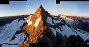 Sunset on the West Ridge of Forbidden Peak, North Cascades National Park, Washington.