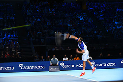 November 12, 2017 - London, England, United Kingdom - Marin Cilic of Croatia plays against Alexander Zverev of Germany during day one of the Nitto ATP World Tour Finals tennis at the O2 Arena on November 12, 2017 in London, England. (Credit Image: © Alberto Pezzali/NurPhoto via ZUMA Press)