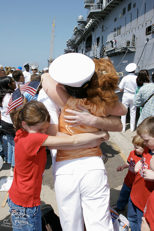 Sailors and Marines Reunite With Their Families, San Diego Naval Base, California (SD)