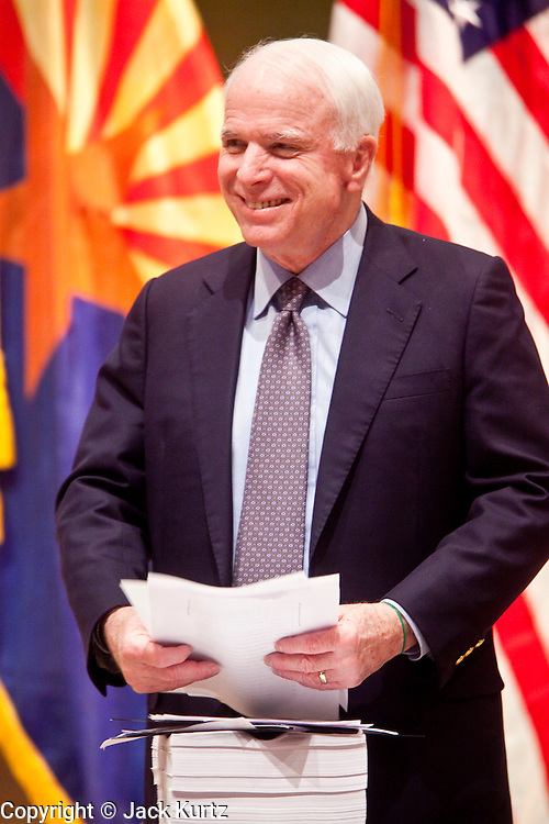 Nov. 23, 2009 -- PHOENIX, AZ: Sen. JOHN McCAIN (R-AZ) during a town hall meeting on health care reform at North Phoenix Baptist Church in Phoenix, AZ. About 300 people, most of them medical professionals, attended the meeting to hear Sen. McCain talk about the health care reform proposals currently in congress and to give McCain their opinions on health care reform.   Photo by Jack Kurtz