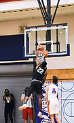 NORTH AUGUSTA, SC. July 10, 2019. Elijah Taylor 2020 #22 of Team Final 17U dunks at Nike Peach Jam in North Augusta, SC. <br /> NOTE TO USER: Mandatory Copyright Notice: Photo by Alex Woodhouse / Jon Lopez Creative / Nike