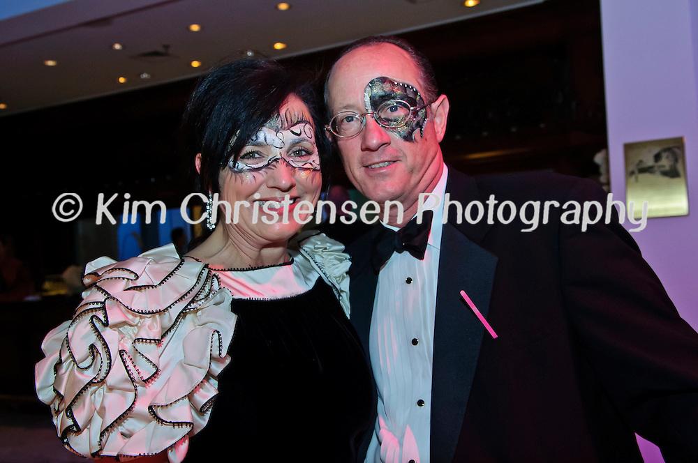 "Kelly and Lou Zeleskey from Houston enjoy The Tremont House Mardi Gras celebrate ""The Golden Era of Motown"" ball."