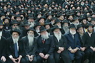 credit: Nancy Siesel Brooklyn. New York 11/27/05 . .2,500 RABBIS FROM 70 COUNTRIES CONVENE IN NYC AT.LEADERSHIP CONVENTION OF FASTEST GROWING.RELIGIOUS MOVEMENT.  : More than 2,500 Chabad-Lubavitch rabbinical emissaries and communal leaders from 70 countries, hailing from as far as the Congo and Nepal, are gathering for their annual convention.  .These rabbinical emissaries  are willing to pick up their families and move literally anywhere in the world to bring their fellow Jews closer to Judaism. . The movement?s leader, the Lubavitcher Rebbe, Rabbi Menachem Mendel Schneerson passed away ten years ago..   ****They are shown gathered together in front of their headquarters at 770 Eastern Parkway  for a group portrait.