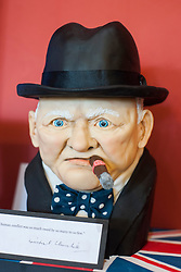 The Winston Churchill cake donated by Connies cakes of Northallerton to help the  Northallerton wartime weekend raisefunds for charatiy took 48 hours to making from £100 worth of ingredients and is 99% edible <br /> <br /> 15 June 2013<br /> Image © Paul David Drabble<br /> www.pauldaviddrabble.co.uk