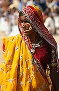Rajasthani woman at the Pushkar Fair, Rajasthan, India