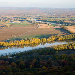 Farms, forest, and the Connecticut River as seen from the Skinner Mountain House in Skinner State Park in Hadley, Massachusetts.  Holyoke Range.