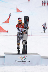 February 23, 2018 - PyeongChang, South Korea - Gold medal winner ESTER LEDECKA of Czech Republic at Snowboard: Ladies' Parallel Giant Slalom Big Final at Phoenix Snow Park during the 2018 Pyeongchang Winter Olympic Games.(Credit Image: © Jon Gaede via ZUMA Wire)
