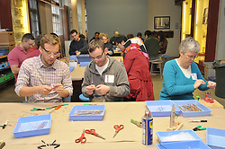 Yale Day of Service at the Eli Whitney Museum. L to R: Michael Murek, Post Doctorate, Dept. of Surgery; Joe Zinter, Graduate Studies, Biomedical Engineering; Sue Compton, Faculty, Comparative Medicine.