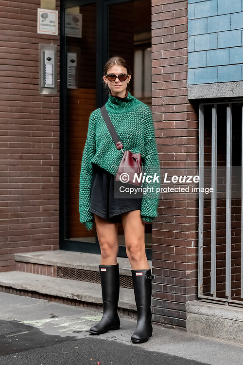 Street style during Milan Fashion Week SS21