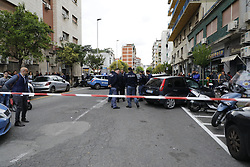 May 3, 2019 - Naples, CAMPANIA - Italy 3 May 2019 - Naples Three people, including a child, were injured by gunfire in an ambush in the crowd that took place just before 5.30 pm on the corner of Piazza Nazionale and Via Acquaviva. The target of the death command was a convict, Salvatore Nurcaro, 32, hit by six bullets and admitted to the Loreto Mare hospital where doctors also found an entrance hole and a chest outlet. (Credit Image: © Fabio Sasso/ZUMA Wire)