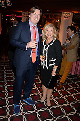 JUSTIN MALLINSON and ELAINE PAIGE at a party to celebrate the publication of 'Passion for Life' by Joan Collins held at No41 The Westbury Hotel, Mayfair, London on21st October 2013.