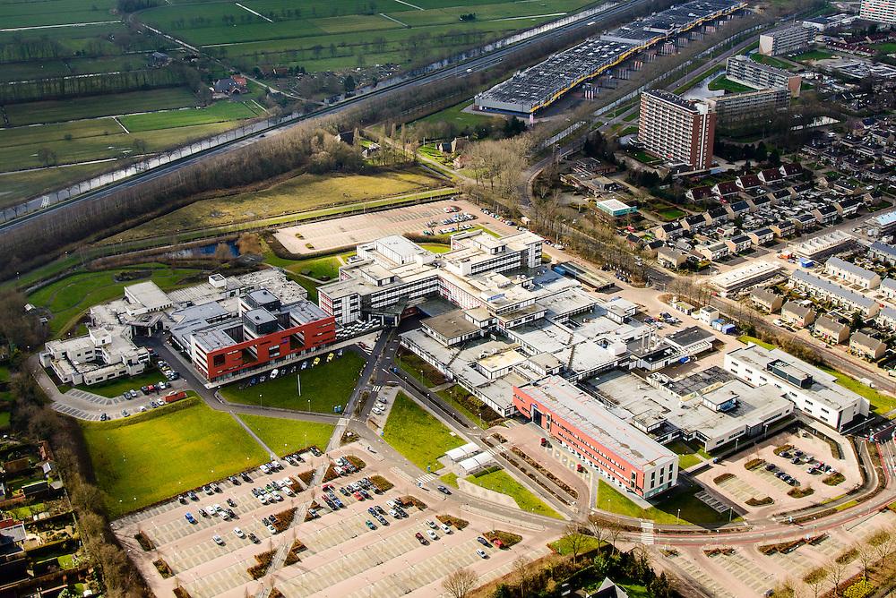 Nederland, Friesland, Drachten, 28-02-2016; algemeen ziekenhuis Nij Smellinghe, streekziekenhuis.<br /> luchtfoto (toeslag op standard tarieven);<br /> aerial photo (additional fee required);<br /> copyright foto/photo Siebe Swart