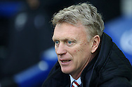 Sunderland Manager David Moyes looks on from the dugout. Premier league match, Everton v Sunderland at Goodison Park in Liverpool, Merseyside on Saturday 25th February 2017.<br /> pic by Chris Stading, Andrew Orchard sports photography.