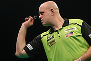 Michael van Gerwen during the Unibet Premier League darts at Motorpoint Arena, Cardiff, Wales on 20 February 2020.