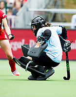 BRUSSELS - keeper Sally RUTHERFORD (NZ)    during BELGIUM v NEW ZEALAND (1-0) , Fintro Hockey World League Semi-Final (women) . COPYRIGHT KOEN SUYK