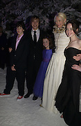 """William Moseley; Georgie Henley; Tilda Swinton; Skandar Keynes below,and Anna Popplewell. Royal Film Performance and World Premiere of """"The Chronicles Of Narnia"""" at the Royal Albert Hall. London and after-party in Kensington Gardens. 7 December  2005.ONE TIME USE ONLY - DO NOT ARCHIVE  © Copyright Photograph by Dafydd Jones 66 Stockwell Park Rd. London SW9 0DA Tel 020 7733 0108 www.dafjones.com"""