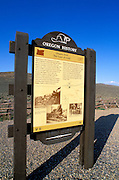 Oregon Trail interpretive sign on Highway 86 along the Oregon Trail at Flagstaff Hill, Baker City, Oregon