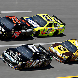 April 17, 2011; Talladega, AL, USA; NASCAR Sprint Cup Series driver Matt Kenseth (17), Regan Smith (78), Paul Menard (27) and David Ragan (6) during the Aarons 499 at Talladega Superspeedway.   Mandatory Credit: Derick E. Hingle