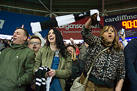 Football - 2016 / 2017 Championship - Cardiff City vs. Newcastle United<br /> <br /> Newcastle fans waving geordie scarvescelebrate promotion to the premiership & sunderland's likely relegation , after the end of their victory , at Cardiff City Stadium.<br /> <br /> COLORSPORT/WINSTON BYNORTH