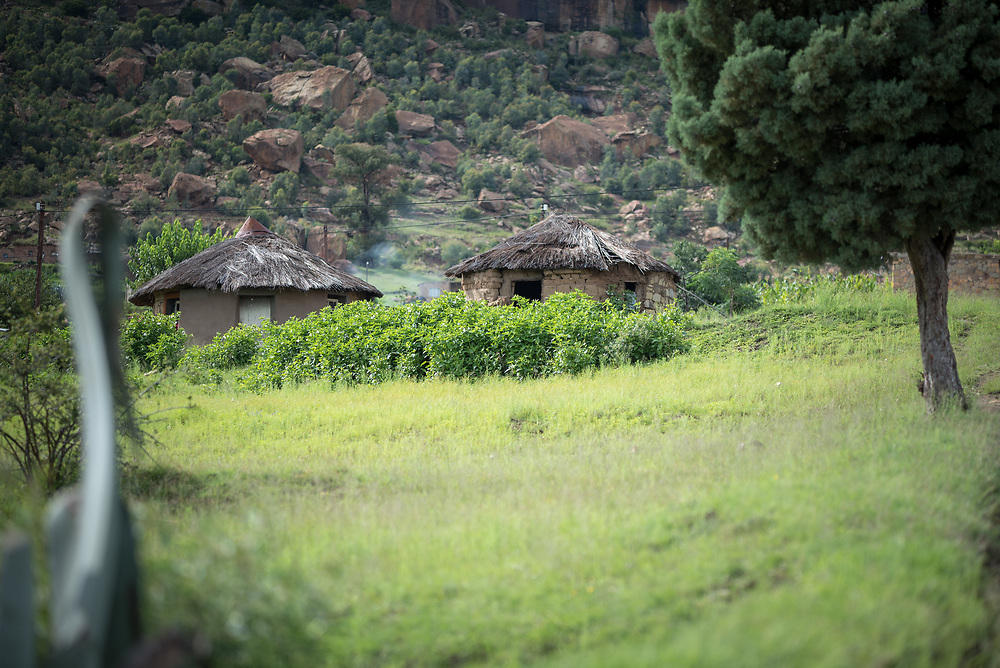 3 March 2017, Thaba Bosiu, Lesotho: In the village of Thaba Bosiu, Lesotho. Thaba Bosiu is a sandstone plateau some 24 kilometers east of Lesotho's capital, Maseru. The name means Night Mountain, and surrounding the plateau is a small village and open plains. Thaba Bosiu was once the capital of Lesotho, and the mountain was the stronghold of the Basotho king when the kingdom of Lesotho was formed.