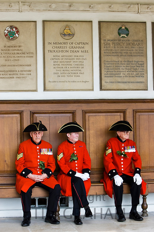 Chelsea Pensioners at Founder's Day Parade, London, United Kingdom.