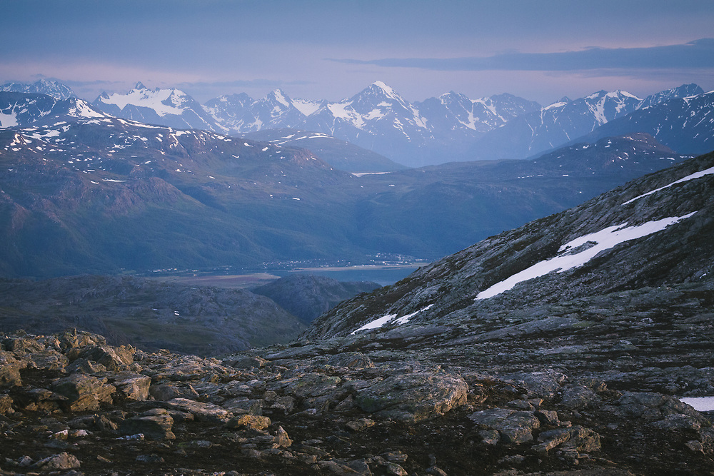 Blue Hour   White night in high country near Storslett, Norway