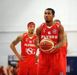 Bristol Flyers' Dwayne Lautier-Ogunleye - Photo mandatory by-line: Dougie Allward/JMP - Mobile: 07966 386802 - 18/10/2014 - SPORT - Basketball - Bristol - SGS Wise Campus - Bristol Flyers v Durham Wildcats - British Basketball League