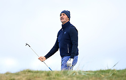 Ruud Gullit on the first hole during day two of the Alfred Dunhill Links Championship at Carnoustie. Picture date: Friday October 1, 2021.