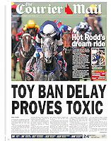 Michael Rodd pilots Efficient to easily win the 2007 Melbourne Cup. (Copyright Michael Dodge/Courier Mail)
