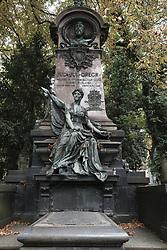 August 15, 2017 - Prague, Czech Republic - The Olsany Cemetery is the largest cemetery in the city of Prague, was created in 1680.15 August 2017 Czech Republic  (Credit Image: © Oscar Gonzalez/NurPhoto via ZUMA Press)