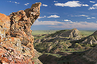 Fused clinker formations over look the Terry Badlands in Southeast Montana