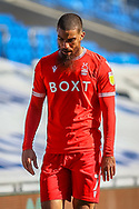 Nottingham Forest's Lewis Grabban (7) is substituted during the EFL Sky Bet Championship match between Cardiff City and Nottingham Forest at the Cardiff City Stadium, Cardiff, Wales on 2 April 2021.