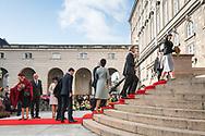 03.10.2017. Copenhagen, Denmark. <br /> Queen Margrethe, Princess Marie, Prince Joachim, Princess Benedikte, Crown Princess Mary and Crown Prince Frederik attended the opening session of the Danish Parliament (Folketinget) at Christiansborg Palace in Copenhagen, Denmark.<br /> Photo: © Ricardo Ramirez
