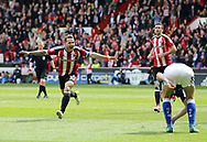 Sheffield United's Billy Sharp celebrates scoring his sides second goal during the League One match at Bramall Lane, Sheffield. Picture date: April 30th, 2017. Pic David Klein/Sportimage