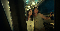 Left to right: Laura Haddock as Viviane Wembly and Mark Wahlberg as Cade Yeager in TRANSFORMERS: THE LAST KNIGHT, from Paramount Pictures.