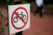 No cycling sign.