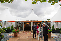 Dr. Pearse Lyons, (IRL), Founder and President of Alltecht, his wife Deirdre Lyons and  Dr. Mark Lyons, vice-president of Alltech, opening the Alltech Experience<br /> Alltech FEI World Equestrian Games™ 2014 - Normandy, France.<br /> © Hippo Foto Team - Leanjo de Koster<br /> 25/06/14
