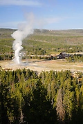 Old Faithful and the Upper Geyser Basin, Yellowstone National Park, Wyoming.