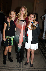 Left to right, PHEONIX HILL-RICHMOND, MARY CHARTERIS and CLAUDIA GUINNESS at a party to celebrate the publication of  'Put On Your Pearl Girls!' by Lulu Guinness held at the V&A museum, London on 5th May 2005.<br />