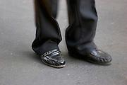 Close-up of dancing feet