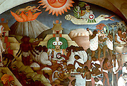 MEXICO, MEXICO CITY, MURAL Rivera's Legend of Quetzalcoatl