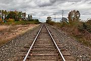 USA, Oregon, Brooks, railroad, Digital Composite, HDR