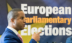 The results of the European Parliamentary Elections for the Scotland Region are announced at the City Chambers in Edinburgh. Scotland's six new MEPs will be the SNP's Alyn Smith, Christian Allard and Aileen McLeod, Louis Stedman-Bruce of the Brexit Party, Sheila Ritchie of the Liberal Democrats and Baroness Nosheena Mobarik of the Conservatives.<br /> <br /> Pictured:  Louis Stedman-Bruce of the Brexit Party